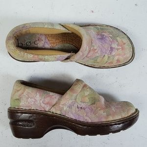 Born BOC Peggy Clogs Floral Leather